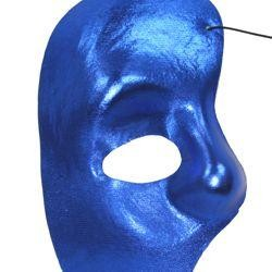 Half Masks: Blue Satin Phantom of the Opera