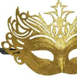 Eye Mask: Glittered Plastic Masquerade Masks