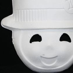 Blank White Full Face Masquerade Mask Paint Your Own Snowman Mask
