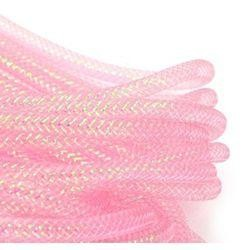 8mm x 15Yd Decor Metallic Mesh Tubing Pink