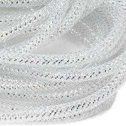 8mm x 15Yd Decor Metallic Mesh Tubing Silver