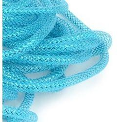 8mm x 15Yd Decor Metallic Mesh Tubing Turquoise