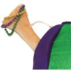 Plush Mardi Gras Beads Cap