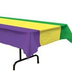 54in x 108in Purple/ Green/ Gold Plastic Tablecover