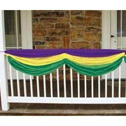 10in Wide x 5ft Long Mardi Gras Fabric Bunting
