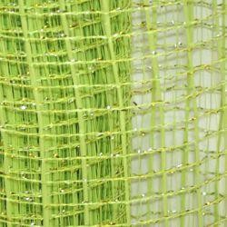 21in x 30ft Metallic Lime Green Oasis Mesh Ribbon/ Netting