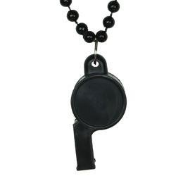 6mm 40in Black Beads with Whistle