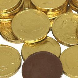 Gold Foiled Wrapped Milk Chocolate Coins, Half Dollar ...