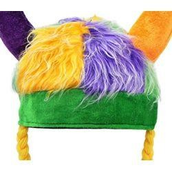 10in Wide x 19in Long Mardi Gras Viking Hat