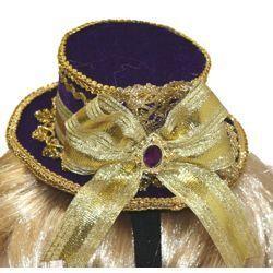 5 1/2in Wide x 2 1/4in Tall Purple Minitop Hat