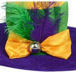 17in Wide x 5in Tall Ladies Wide Brimmed Mardi Gras Hat 5e2757094b77