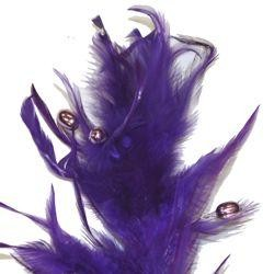 Purple Beaded Feather Spray