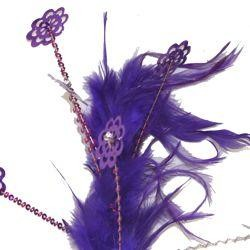 Purple Feather with Sequins Spray