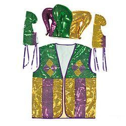 Polyester Jester Costume Set