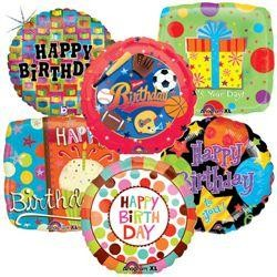 18in Happy Birthday Assorted Mylar Balloons