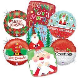 Christmas Assorted Mylar Balloons