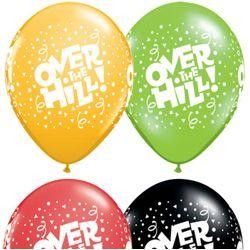 11in Over The Hill Latex Assorted Balloons