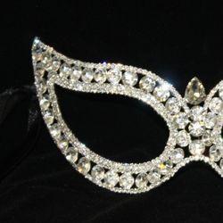 Rhinestone Eye Venetian Masquerade Mask