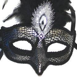 Papier Mache Venetian Masquerade Mask With 2½in Nose