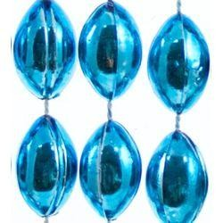 18mm 38in Turquoise Football Beads