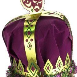 8in Wide x 10in Tall Mardi Gras Royal King Crown