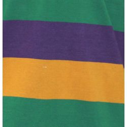 Mardi Gras Style T-Shirt W/Long Sleeve/Collar Medium Size