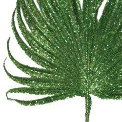 20in Tall x 8in Wide Decorative Glittered Lime Green Leaf