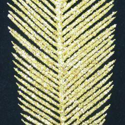Decorative Glittered Gold Tropical Leaf