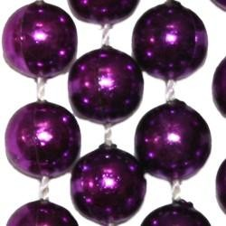 10mm 33in Metallic Purple Beads