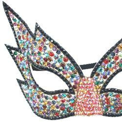 Multicolor Rhinestone Eye Masquerade Mask