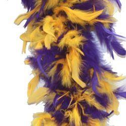 Purple/ Gold Feather Boa