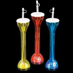 13 1/2in Assorted Colors Flashing Plastic Yard Glass