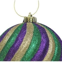 250mm Purple/ Green/ Gold Swirl Ball