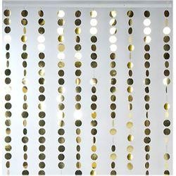 35 1/2in Wide x 71in Long Decorative Metallic Gold Curtain