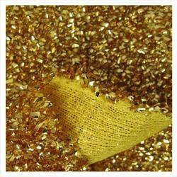 22in x 9ft Gold Sponge Lurex Material
