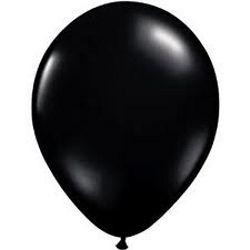 12in Midnight Black Latex Balloons