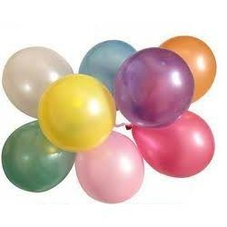 12in Pearlized Assorted Colors Latex Balloons