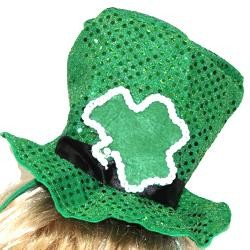 6in Tall x 6in Wide Shamrock Hat Headband