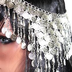 Cleopatra Head Piece/ Silver