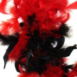 Black/ Red Feather Boa