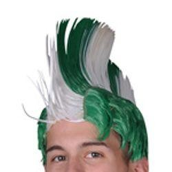 Green and White Mohawk Wig
