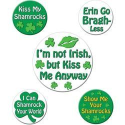St Patricks Humorous Saying Party Buttons