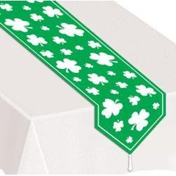 11in Wide x 6Ft Long Printed Shamrock Table Runner