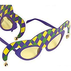 9in Wide x 5 1/2 Tall Jester Sunglasses With Bells