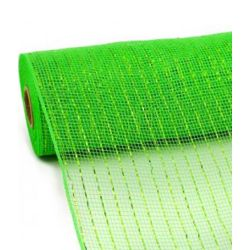 10in Wide x 30ft Long Poly Mesh Roll: Metallic Green