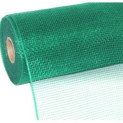 10in Wide x 30ft Long Poly Mesh Roll: Plain Green