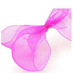 10in Wide x 30ft Long Poly Mesh Roll: Plain Hot Pink