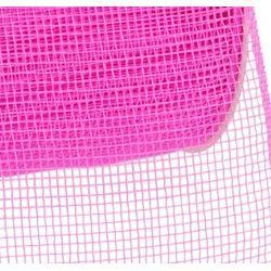 4in Wide x 75ft Long Poly Mesh Roll: Plain Hot Pink