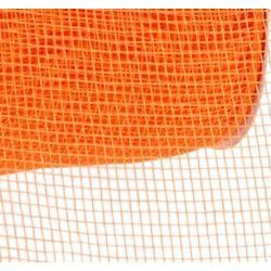 4in Wide x 75ft Long Poly Mesh Roll: Plain Orange