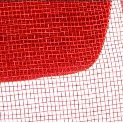 4in Wide x 75ft Long Poly Mesh Roll: Plain Red